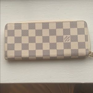 Damier Azur small leather wallet